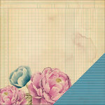 Heidi Swapp - Wanderlust Collection - 12 x 12 Double Sided Paper - Pressed Flowers