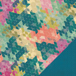 Heidi Swapp - Wanderlust Collection - 12 x 12 Double Sided Paper - Mosaic