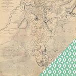 Heidi Swapp - Wanderlust Collection - 12 x 12 Double Sided Paper - Treasure Map