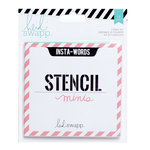 Heidi Swapp - Mixed Media Collection - 4 x 4 Stencil Pack - Minis - Insta-Words