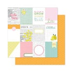 Pink Paislee - Citrus Bliss Collection - 12 x 12 Double Sided Paper - Hello