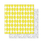 Pink Paislee - Citrus Bliss Collection - 12 x 12 Double Sided Paper - Lemonade
