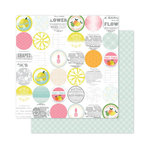 Pink Paislee - Citrus Bliss Collection - 12 x 12 Double Sided Paper - Sour