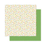 Pink Paislee - Citrus Bliss Collection - 12 x 12 Double Sided Paper - Fancy