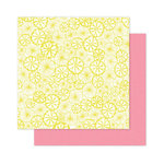 Pink Paislee - Citrus Bliss Collection - 12 x 12 Double Sided Paper - Squeeze