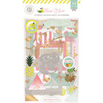 Pink Paislee - Citrus Bliss Collection - Chipboard Stickers