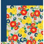 American Crafts - Shimelle Collection - True Stories - 12 x 12 Double Sided Paper - Grey Floral