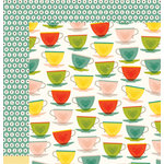 American Crafts - Shimelle Collection - True Stories - 12 x 12 Double Sided Paper - Green Tea