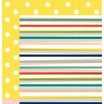American Crafts - Shimelle Collection - True Stories - 12 x 12 Double Sided Paper - Americano