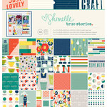 American Crafts - Shimelle Collection - True Stories - 12 x 12 Paper Pad
