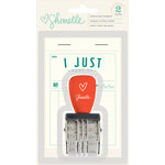 American Crafts - Shimelle Collection - True Stories - Roller Stamp - Phrase