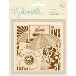 American Crafts - Shimelle Collection - True Stories - Wood Veneer Pieces