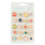 American Crafts - Shimelle Collection - True Stories - Wood Buttons