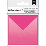 American Crafts - Mini Cards and Envelopes - 3 x 3 - Pink