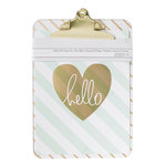 American Crafts - 9 x 12.5 Clipboard with Print - Diagonal Stripes