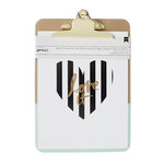 American Crafts - 9 x 12.5 Clipboard with Print - Gold and Mint