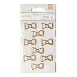 American Crafts - Paper Clips - Gold Bowties