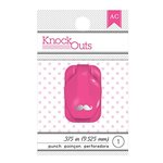 American Crafts - Knock Outs - Mini Punch - Mustache - .375 Inch