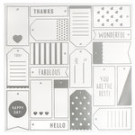 American Crafts - DIY Shop 3 Collection - 12 x 12 Acetate Paper with Foil Accents - Tags
