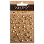 American Crafts - DIY Shop 3 Collection - Enamel Dots - Gold