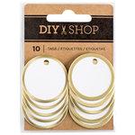 American Crafts - DIY Shop 3 Collection - Metal Circle Tags