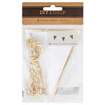 American Crafts - DIY Shop 3 Collection - Banners with Foil Accents - White