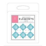 American Crafts - Brads - Glitter - Blue Squares