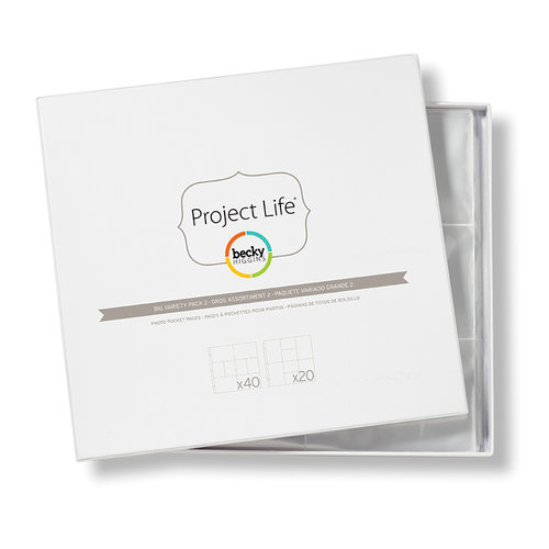 Becky Higgins - Project Life - Photo Pocket Pages - 12 x 12 Big Variety Pack 2 - 60 Pack