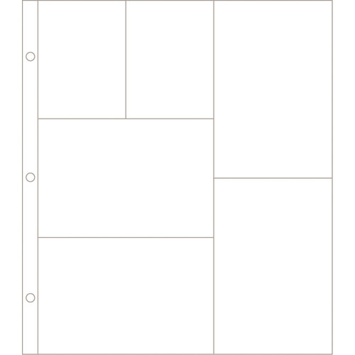 American Crafts - Becky Higgins - Project Life - Photo Pocket Pages - 12 x 12 Design G - 12 Pack