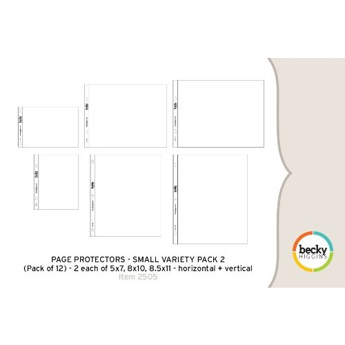 American Crafts - Becky Higgins - Project Life - Photo Pocket Pages - 12 x 12 Small Variety Pack 2 - 12 pack