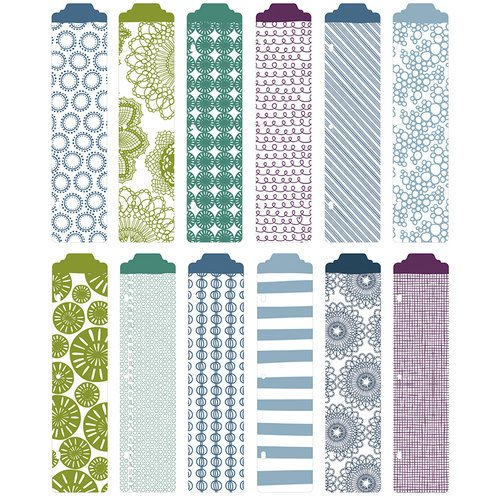 American Crafts - Becky Higgins - Project Life - Rain Collection - Designer Dividers - 12 Pack