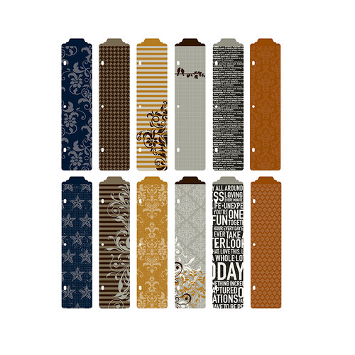 Becky Higgins - Project Life - Cinnamon Collection - Designer Dividers - 12 Pack