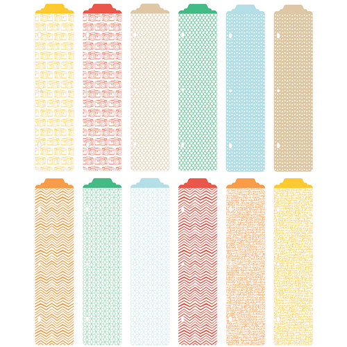 American Crafts - Becky Higgins - Project Life - Jade Edition - Designer Dividers - 12 Pack