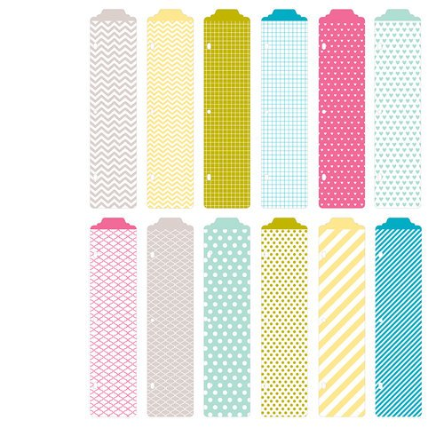American Crafts - Becky Higgins - Project Life - Blush Collection - Designer Dividers - 12 Pack