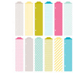 Becky Higgins - Project Life - Blush Collection - Designer Dividers - 12 Pack