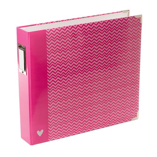 Becky Higgins - Project Life - Blush Collection - Album - 12 x 12 D-Ring - Pink