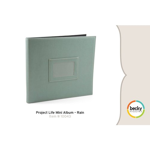 American Crafts - Becky Higgins - Project Life - Faux Leather Mini Album - Rain