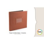 American Crafts - Becky Higgins - Project Life - Faux Leather Mini Album - Cinnamon