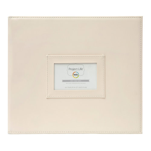 American Crafts - Becky Higgins - Project Life - Faux Leather Mini Album - Ivory