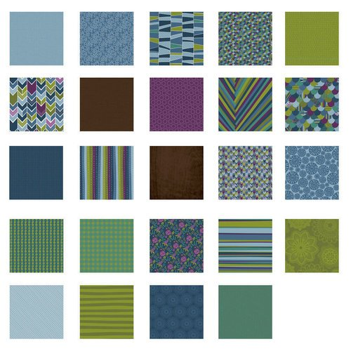 Becky Higgins - Project Life - Rain Collection - 12 x 12 Designer Paper Collection Pack