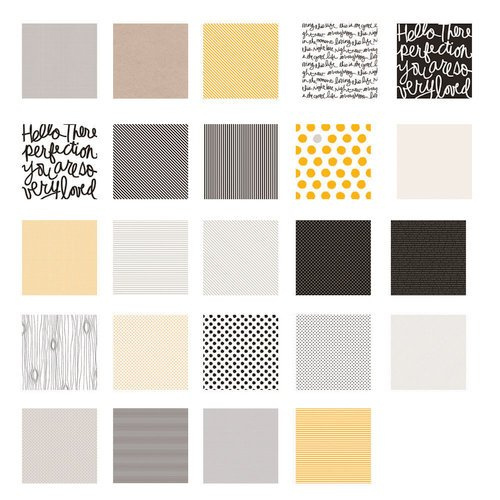 American Crafts - Becky Higgins - Project Life - Midnight Collection - 12 x 12 Designer Paper Collection Pack