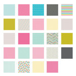American Crafts - Becky Higgins - Project Life - Blush Collection - 12 x 12 Designer Paper Collection Pack