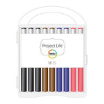American Crafts - Becky Higgins - Project Life - Journaling Pen Set - 18 Pack with Storage Case
