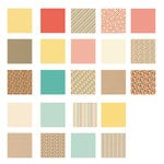 American Crafts - Becky Higgins - Project Life - Kraft Collection - 12 x 12 Designer Paper Collection Pack