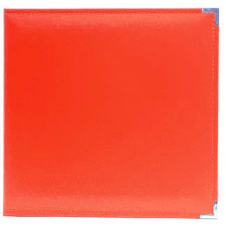 American Crafts - Becky Higgins - Project Life - Faux Leather Album - 12 x 12 - D-Ring - Cherry