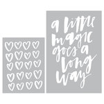 Becky Higgins - Project Life - Inspire Edition Collection - Embossing Folders