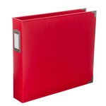Becky Higgins - Project Life - Faux Leather - 12 x 12 D- Ring Album - Cherry