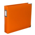 Becky Higgins - Project Life - Faux Leather - 12 x 12 - D-Ring Album - Clementine