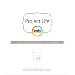 Becky Higgins - Project Life - Envelope Pages - 6 x 8 - 3 Pack