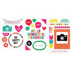Becky Higgins - Project Life - Confetti Edition Collection - Chipboard Stickers